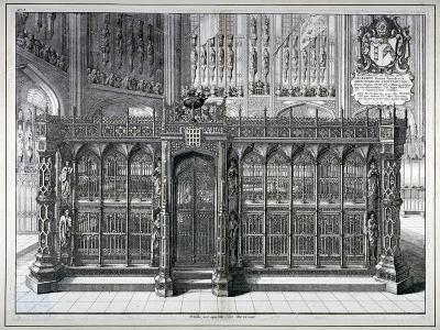 Monument to Henry VII and Queen Elizabeth in the King's Chapel, Westminster Abbey, London, 1665-Wenceslaus Hollar-Giclee Print