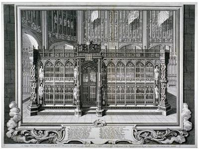 Monument to Henry VII and Queen Elizabeth in the King's Chapel, Westminster Abbey, London, 1735-George Vertue-Giclee Print
