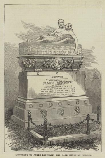 Monument to James Renforth, the Late Champion Sculler--Giclee Print