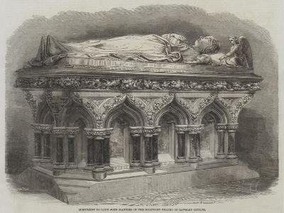 Monument to Lady John Manners in the Mortuary Chapel of Rawsley Church--Giclee Print