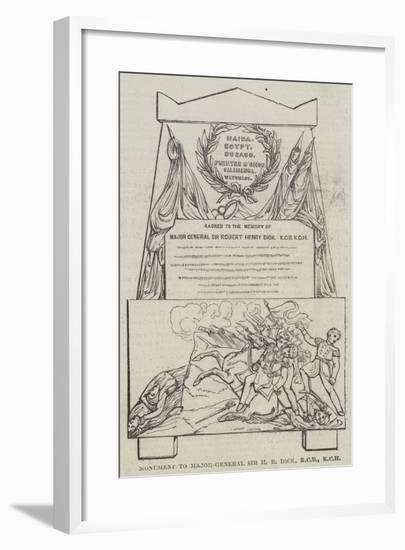 Monument to Major-General Sir H R Dick--Framed Giclee Print