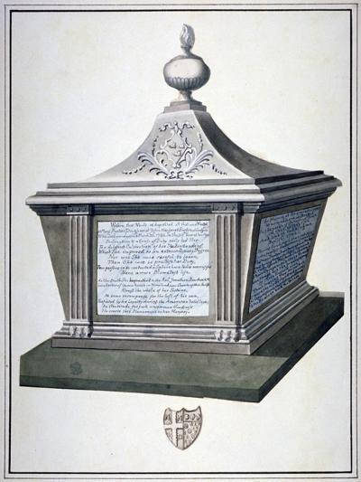 Monument to Mary Barton in the Church of St Mary, Paddington, London, C1800--Giclee Print