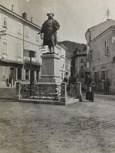 Monument to Maximilian in Plaza of Cormons During the First World War-Luigi Verdi-Photographic Print