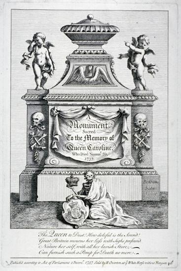 Monument to Queen Caroline, Consort of George II, Westminster Abbey, London, 1737-George Bickham-Giclee Print