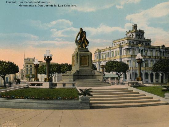 Monument to scholar and philosopher Jose de la Luz Caballero, Havana, Cuba, c1920-Unknown-Photographic Print