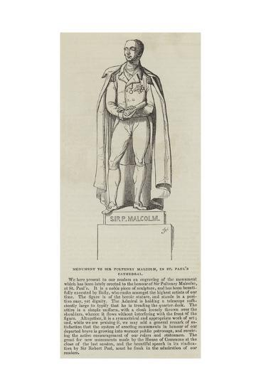 Monument to Sir Pulteney Malcolm, in St Paul's Cathedral--Giclee Print