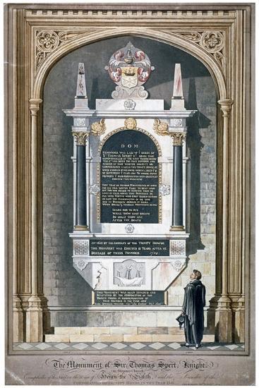 Monument to Sir Thomas Spert in St Dunstan's Church, Stepney, London, 1809-George Hawkins-Giclee Print