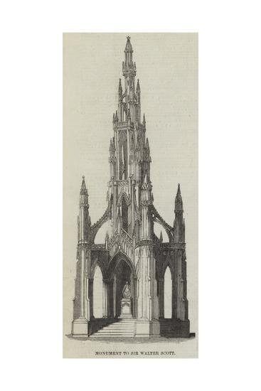 Monument to Sir Walter Scott--Giclee Print