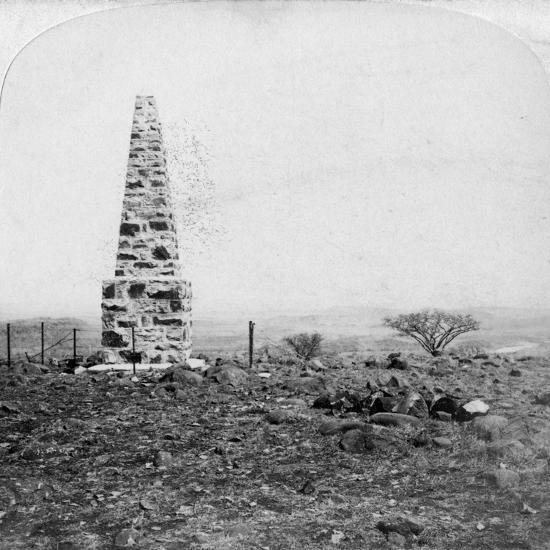 Monument to the 27th Inniskillings, Hart's Hill, Near Colenso, Natal, South Africa, Boer War, 1901-Underwood & Underwood-Giclee Print