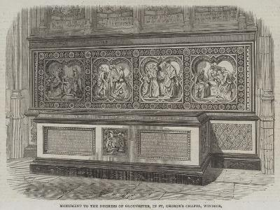 Monument to the Duchess of Gloucester, in St George's Chapel, Windsor--Giclee Print