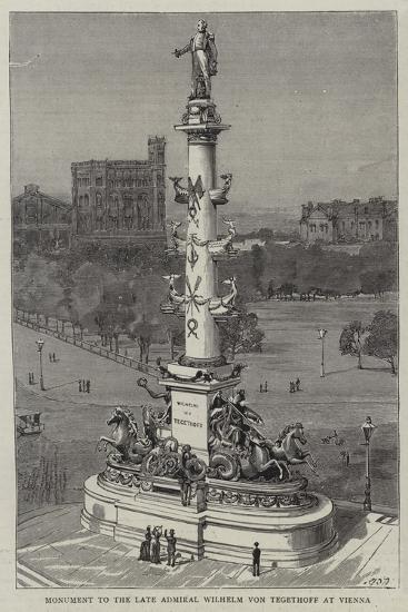 Monument to the Late Admiral Wilhelm Von Tegethoff at Vienna--Giclee Print