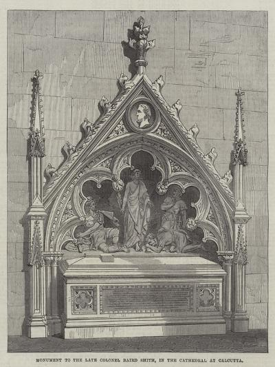 Monument to the Late Colonel Baird Smith, in the Cathedral at Calcutta--Giclee Print