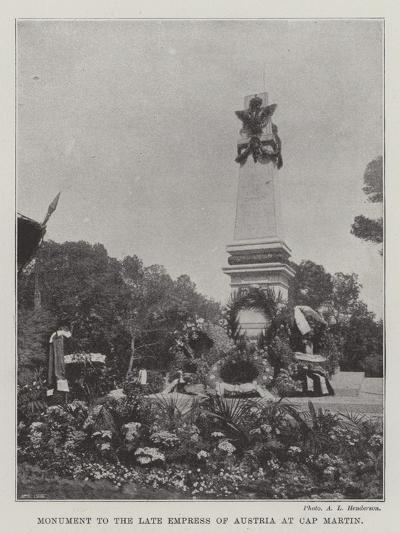 Monument to the Late Empress of Austria at Cap Martin--Giclee Print