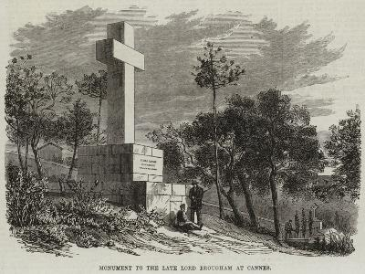 Monument to the Late Lord Brougham at Cannes--Giclee Print