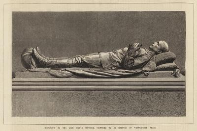 Monument to the Late Prince Imperial Proposed to Be Erected in Westminster Abbey--Giclee Print