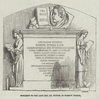 Monument to the Late Reverend Dr Butler, in Harrow Church--Giclee Print