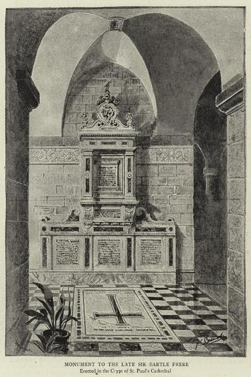 Monument to the Late Sir Bartle Frere--Giclee Print