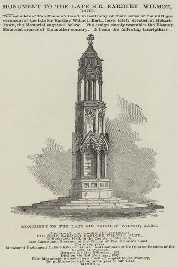 Monument to the Late Sir Eardley Wilmot, Baronet--Giclee Print