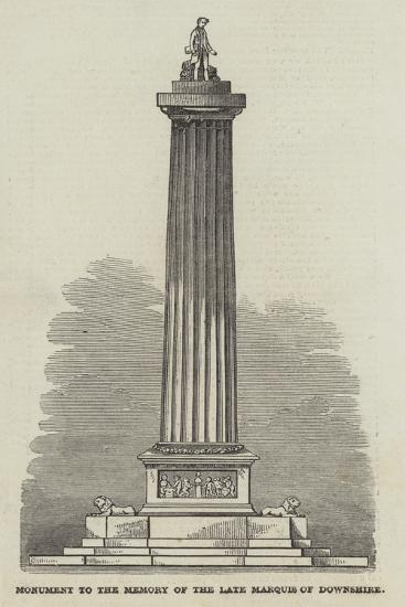 Monument to the Memory of the Late Marquis of Downshire--Giclee Print