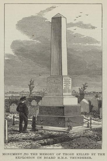 Monument to the Memory of Those Killed by the Explosion on Board HMS Thunderer--Giclee Print