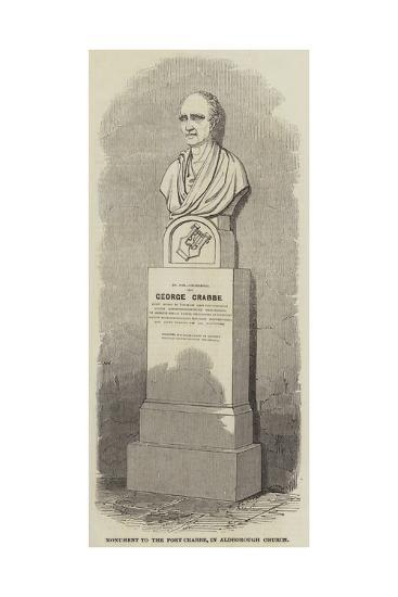 Monument to the Poet Crabbe, in Aldborough Church--Giclee Print