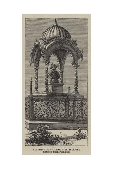 Monument to the Rajah of Kolapore, Erected Near Florence--Giclee Print