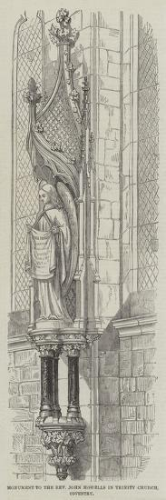 Monument to the Reverend John Howells in Trinity Church, Coventry--Giclee Print