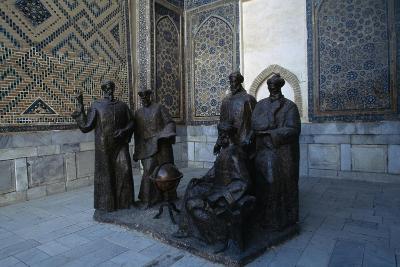 Monument to the Uzbek Scientists, Ulugh Beg Madrasah--Giclee Print