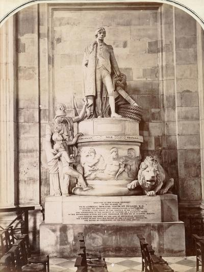 Monument to Vice-Admiral Horatio Nelson, St Paul's Cathedral, London, C.1885--Photographic Print