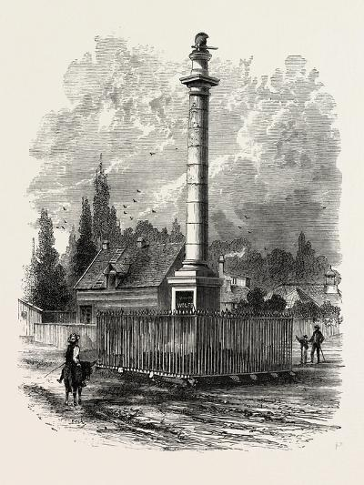 Monument to Wolfe at Quebec, Canada, 1870s--Giclee Print