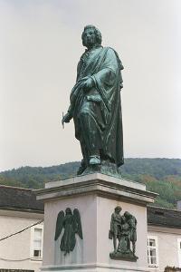 Monument to Wolfgang Amadeus Mozart (Salzburg, 1756-Vienna, 1791), Mazartplatz, Salzburg, Austria