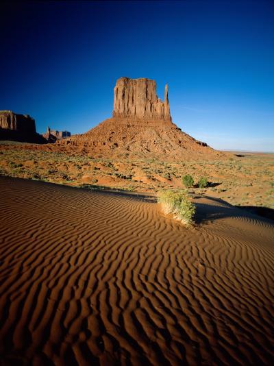 Monument Valley and Sand Dunes, Arizona, USA-Steve Vidler-Photographic Print