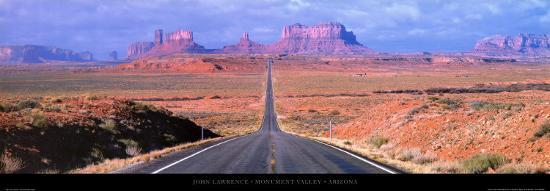 Monument Valley - Arizona-John Lawrence-Art Print