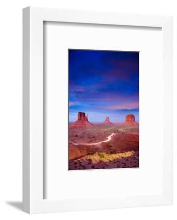 Monument Valley At Dusk Utah--Framed Art Print