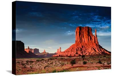 Monument Valley At Dusk Utah--Stretched Canvas Print