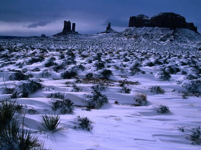Monument Valley in Winter, Monument Valley Navajo Tribal Park, Arizona-Christer Fredriksson-Photographic Print