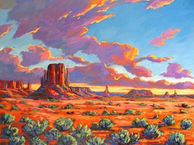 Monument Valley Sunset-Patty Baker-Art Print