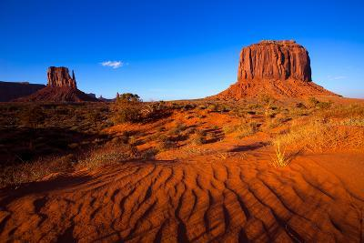 Monument Valley West Mitten And Merrick Butte Desert Sand Dunes Utah-holbox-Art Print