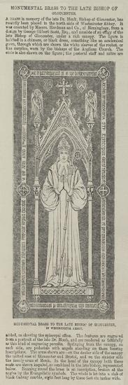 Monumental Brass to the Late Bishop of Gloucester, in Westminster Abbey--Giclee Print