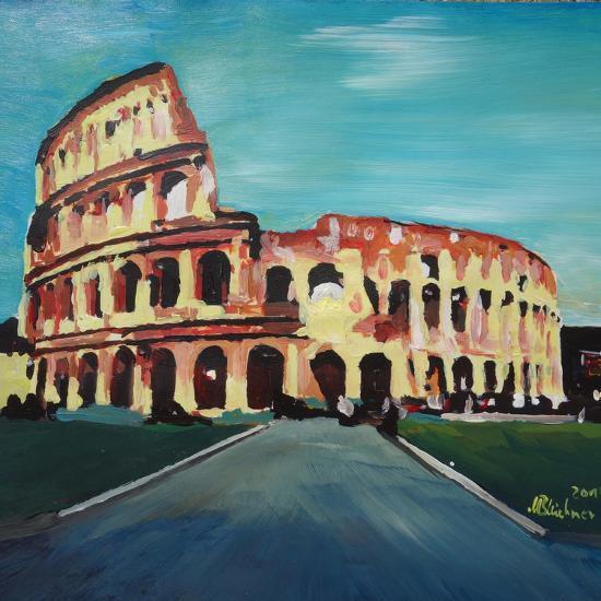 Monumental Coliseum in Rome Italy-Markus Bleichner-Art Print