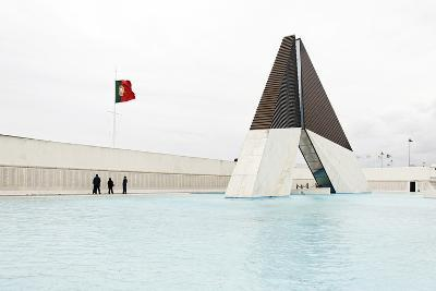Monumento Aos Combatentes Da Guerra Do Ultramar, Belem War Monument, Guard, Belem District, Lisbon-Axel Schmies-Photographic Print