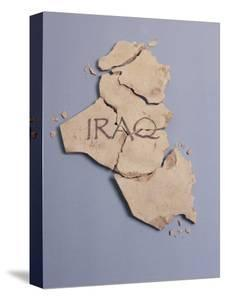 Broken Plaster Map of Iraq by Monzino