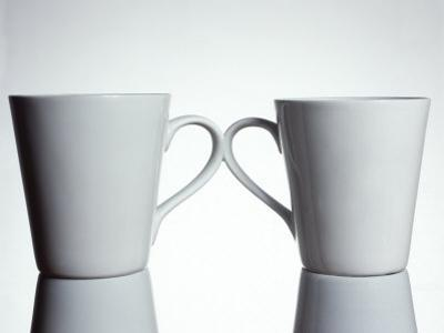 Two Cups with Handles Touching by Monzino