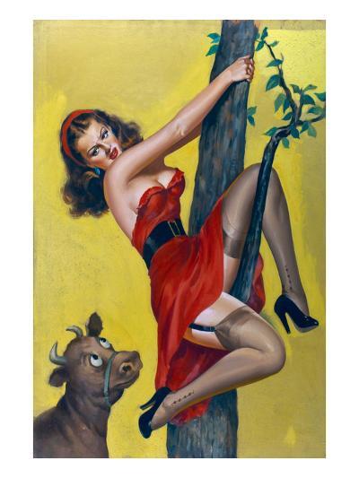 Moo; Up a Tree-Peter Driben-Art Print
