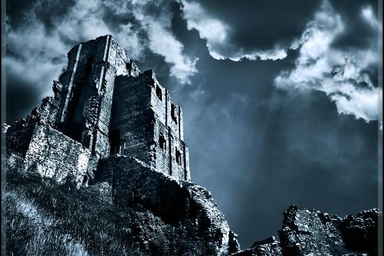 Moods of Corfe Castle!-Adrian Campfield-Photographic Print