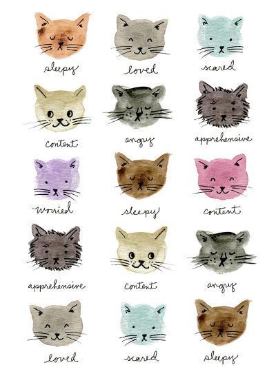 Moody Cats-Elizabeth Caldwell-Giclee Print
