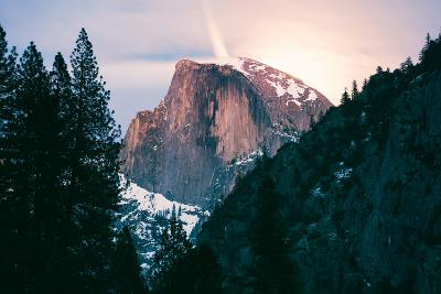 Moody Moonlight at Half Dome, Yosemite National Park, Hiking Outdoors-Vincent James-Photographic Print