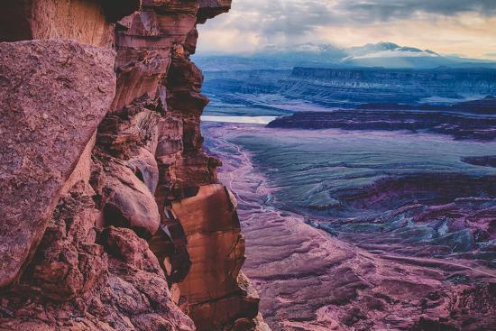 Moody Morning Skies at Dead Horse Point, Moab, Utah Southwest-Vincent James-Wall Mural