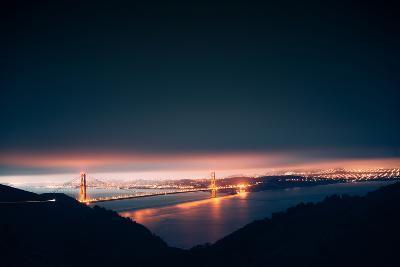 Moody Pre-dawn Golden Gate Bridge, San Francisco, California-Vincent James-Photographic Print