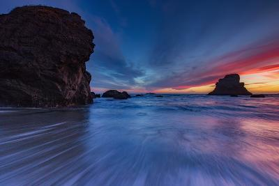 Moody Seascape After Sunset, Sonoma Coast, California-Vincent James-Photographic Print
